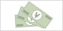 銀行口座へキャッシュバック